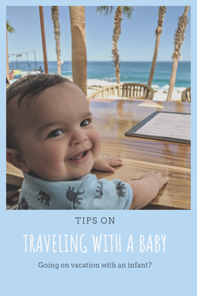 Tips on flying with an infant or baby to go on vacation