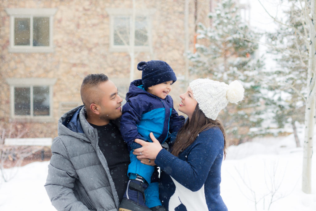 Park City, Utah Ski Family trip with a toddler in the snow