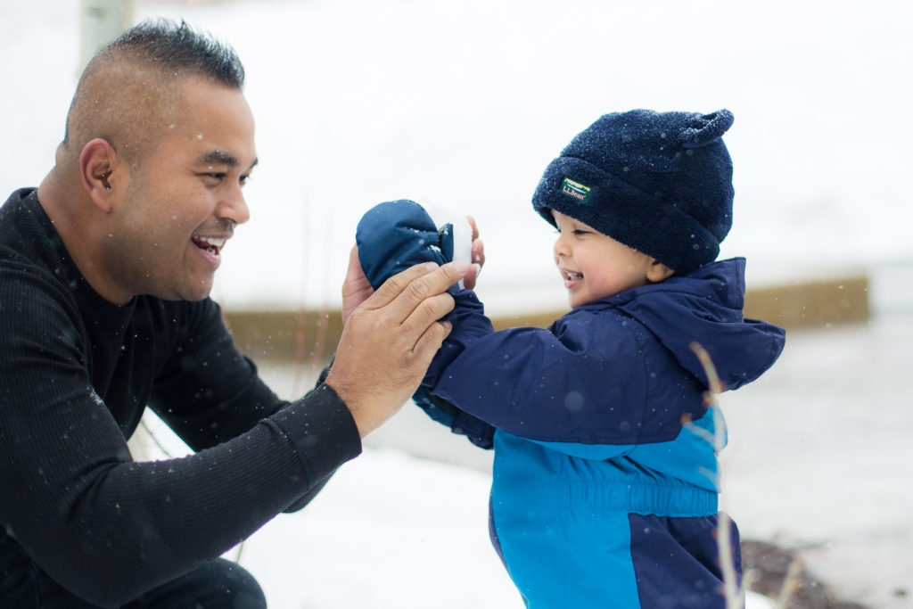Park City, Utah Ski Family trip with a toddler in the snow at the Sundial Lodge