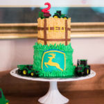 John Deere Tractor themed 2nd Birthday Party for a boy
