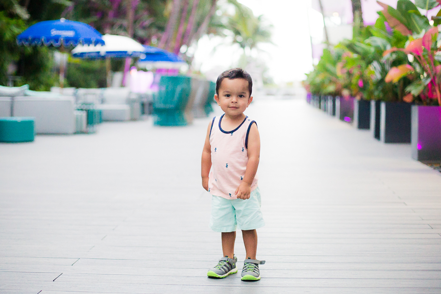 Going on a family vacation with a toddler to South Beach, Miami