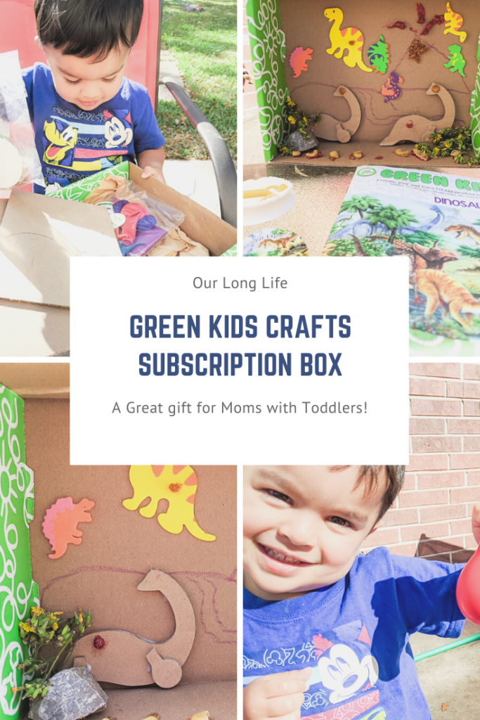 Green Kids Crafts Subscription Box for my two year old!
