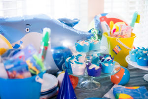 How to have a Confinement Splish Splash Shark Birthday Party