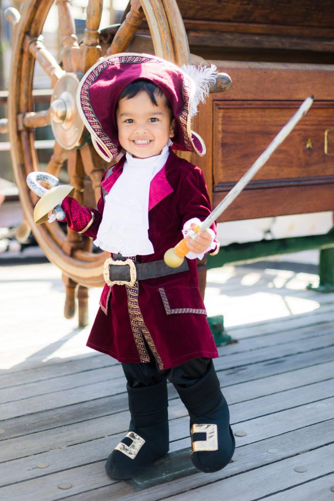 Disney Captain Hook Halloween Costume for a toddler